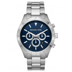 Michael Kors Mens Layton Navy Chronograph Dial Stainless Steel Bracelet Watch MK8781