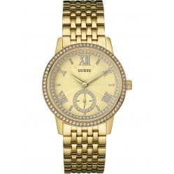 Guess Ladies Gramercy Gold Plated Bracelet Watch W0573L2