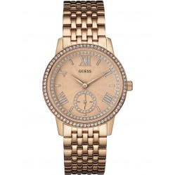 Guess Ladies Gramercy Rose Gold Plated Bracelet Watch W0573L3