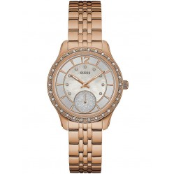 Guess Ladies Rose Gold Plated Bracelet Watch W0931L3