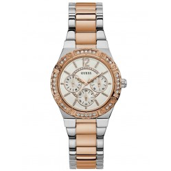 Guess Ladies Envy Two Colour Bracelet Watch W0845L6