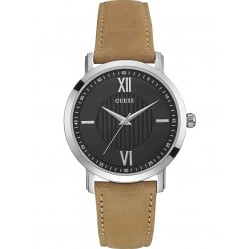 Guess Mens VP Leather Strap Watch W0793G1