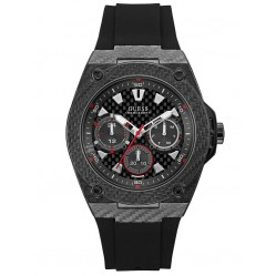 Guess Mens Legacy Rubber Strap Watch W1048G2
