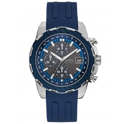 Guess Mens Octane Blue Chronograph Strap Watch W1047G2