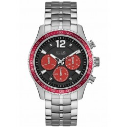Guess Mens Fleet Red Chronograph Watch W0969G3