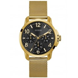 Guess Mens Voyage Gold Plated Mesh Bracelet Watch W1040G3