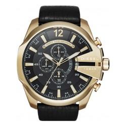 Diesel Mens Mega Chief Gold Plated Chronograph Strap Watch DZ4344