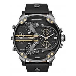 Diesel Mens Daddies Dark Black Watch DZ7348