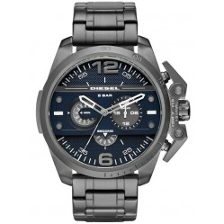 Diesel Mens Ironside Chronograph Stainless Steel Black Bracelet Watch DZ4398
