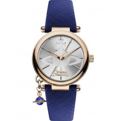 Vivienne Westwood Ladies Orb Strap Watch VV006RSBL