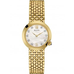 Bulova Ladies Diamond Gold Plated Watch 97S114