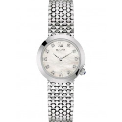 Bulova Ladies Diamond Silver Watch 96S163