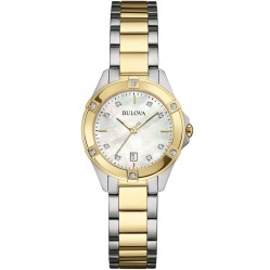 Bulova Ladies Diamond Two Tone Watch 98W217