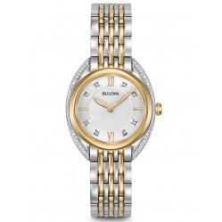 Bulova Ladies Diamond Two Tone Bracelet Watch 98R229