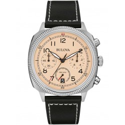 Bulova Mens Military UHF Chronograph Strap Watch 96B231