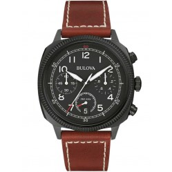 Bulova Mens Military UHF Chronograph Strap Watch 98B245