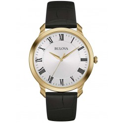 Bulova Mens Leather Watch 97A123