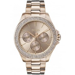Hugo Boss Ladies Premiere Stone Set Bezel Watch 1502443