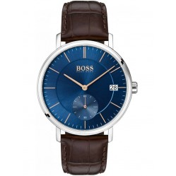 BOSS Mens Corporal Brown Leather Strap Watch 1513639