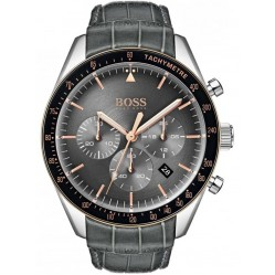 Hugo Boss Mens Trophy Anthracite Grey Chronograph Watch 1513628