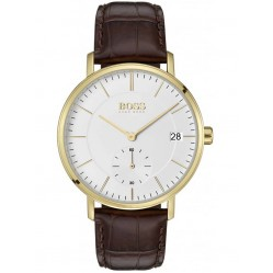 Hugo Boss Mens Corporal Brown Strap Watch 1513640