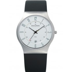 Skagen Steel Black Strap Silver Dial with Date Watch 233XXLSLC