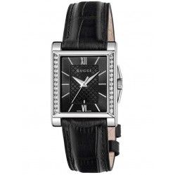 Gucci Ladies Timeless Diamond Strap Watch YA138505
