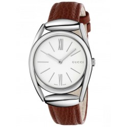Gucci Ladies Red Leather Watch YA140403
