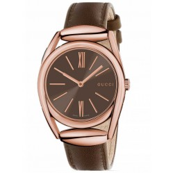 Gucci Ladies Horsebit Brown Watch YA140408