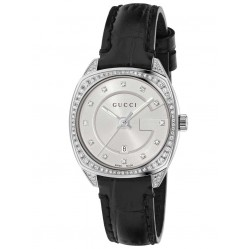 Gucci Ladies G-Frame Diamond Strap Watch YA142507
