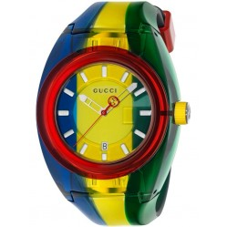 Gucci Mens Gucci Sync Multicolor Rubber Strap Watch YA137114