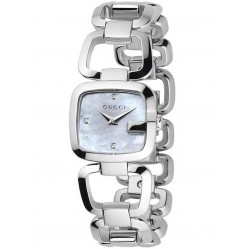 Gucci Ladies G-Gucci Diamond Bracelet Watch YA125502