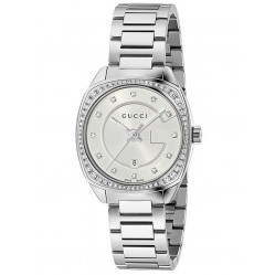 Gucci Ladies G-Frame Diamond Bracelet Watch YA142505