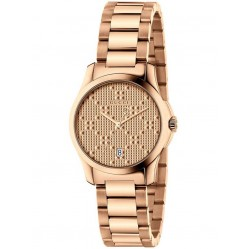 Gucci Ladies Rose Gold Plated G Timeless 27mm Watch YA126567
