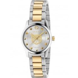Gucci Ladies G-Timeless Gold Plated Mystic Cat Dial Bracelet Watch YA126596