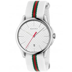 Gucci Mens Timeless Slim Strap Watch YA126322