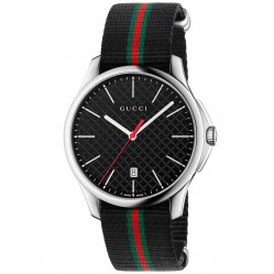 Gucci Mens Timeless Slim Strap Watch YA126321