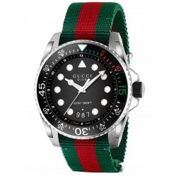 Gucci Mens Dive Strap Watch YA136209