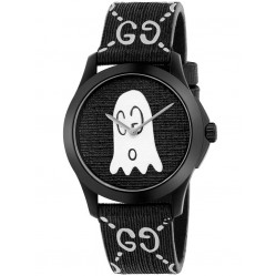 Gucci Mens Ghost Two Colour Rubber Strap Watch YA1264018