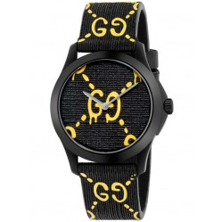 Gucci Mens GG Two Colour Rubber Strap Watch YA1264019