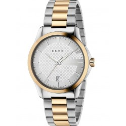 Gucci Mens G Timeless Two Tone Bracelet Watch YA126450