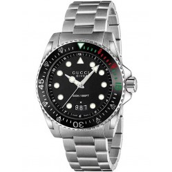 Gucci Mens Stainless Steel Dive Watch YA136208