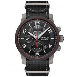 Montblanc Mens Timewalker Urban Black E-Strap Watch 113827