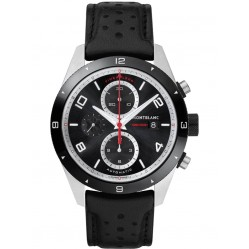 Montblanc Mens Timewalker Chronograph Leather Strap Watch 116098
