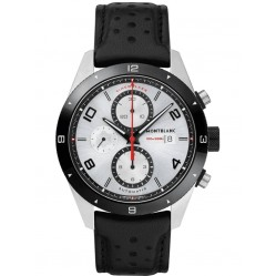 Montblanc Mens Timewalker Automatic Chronograph Leather Strap Watch 116100