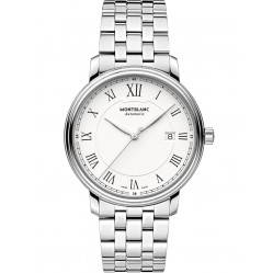 Montblanc Mens Tradition Date Automatic Silver Bracelet Watch 112610