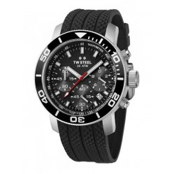 TW Steel Mens Rubber Strap Watch TW0700