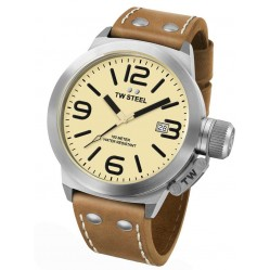 TW Steel Mens Canteen Brown Strap Watch TWCS11
