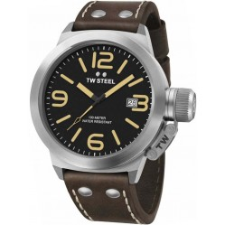 TW Steel Mens Canteen Brown Strap Watch TWCS32