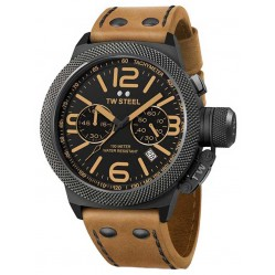 TW Steel Mens Canteen Brown Strap Watch TWCS43